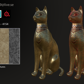Gold Cat Statue - Info