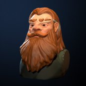 Dwarf bust shot